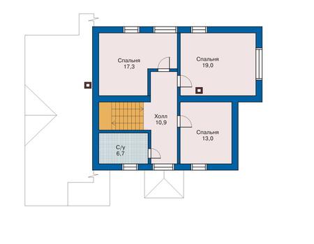 Проект кирпичного дома 70-52 план