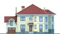 Проект кирпичного дома 70-54 фасад