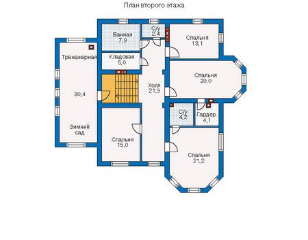 Проект кирпичного дома 70-54 план