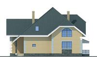 Проект кирпичного дома 70-55 фасад