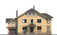 Проект кирпичного дома 70-56 фасад
