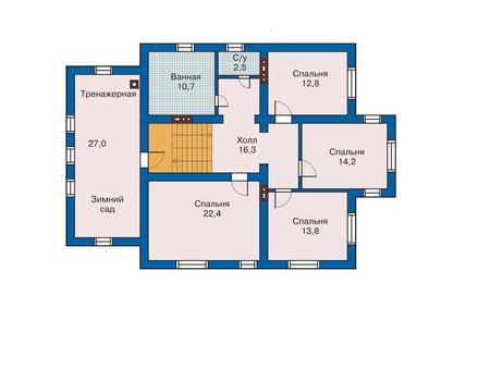 Проект кирпичного дома 70-56 план