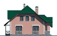 Проект кирпичного дома 70-57 фасад