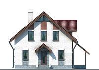 Проект кирпичного дома 70-58 фасад