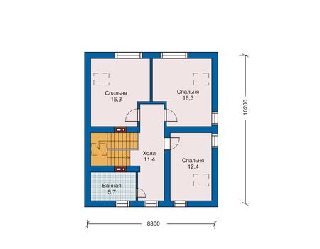 Проект кирпичного дома 70-58 план
