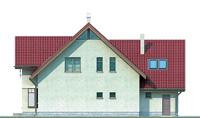 Проект кирпичного дома 70-60 фасад