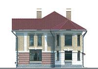 Проект кирпичного дома 70-61 фасад