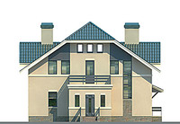 Проект кирпичного дома 70-62 фасад