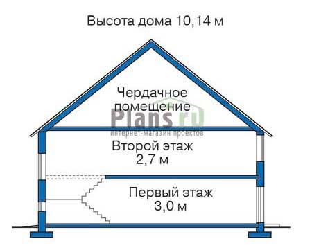 Проект кирпичного дома 70-62 план
