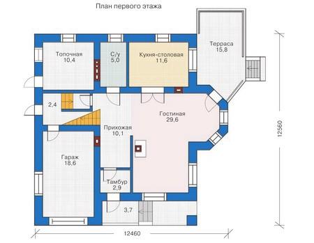 Проект кирпичного дома 70-63 план