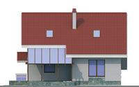 Проект кирпичного дома 70-64 фасад