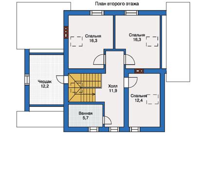 Проект кирпичного дома 70-64 план