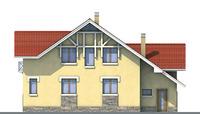 Проект кирпичного дома 70-68 фасад