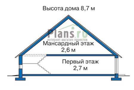 Проект кирпичного дома 70-68 план
