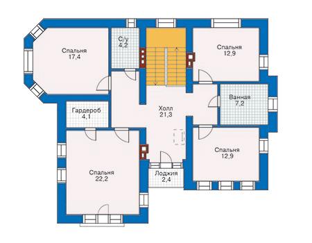 Проект кирпичного дома 70-69 план