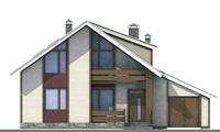 Проект кирпичного дома 70-70 фасад