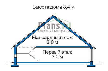 Проект кирпичного дома 70-70 план