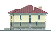 Проект кирпичного дома 70-75 фасад