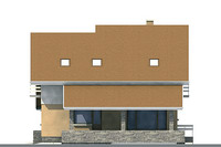 Проект кирпичного дома 70-77 фасад