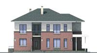 Проект кирпичного дома 70-80 фасад