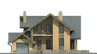 Проект кирпичного дома 70-81 фасад