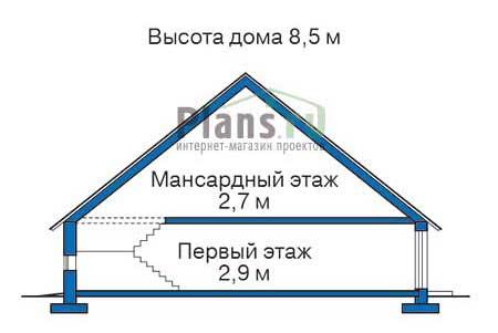 Проект кирпичного дома 70-81 план