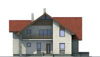 Проект кирпичного дома 70-82 фасад