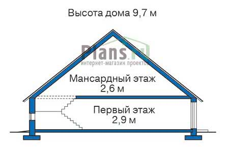 Проект кирпичного дома 70-82 план