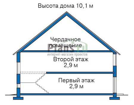Проект кирпичного дома 70-83 план