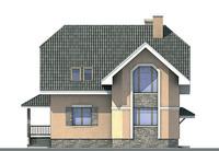 Проект кирпичного дома 70-86 фасад