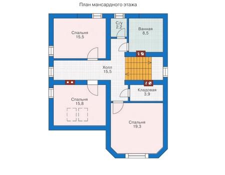 Проект кирпичного дома 70-86 план