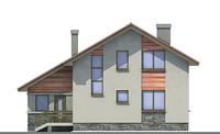 Проект кирпичного дома 70-89 фасад