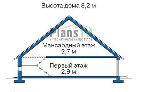 Проект кирпичного дома 70-89 план