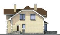 Проект кирпичного дома 70-90 фасад