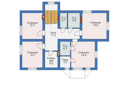 Проект кирпичного дома 70-90 план