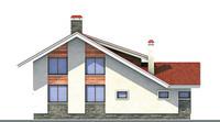Проект кирпичного дома 70-91 фасад