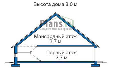 Проект кирпичного дома 70-91 план