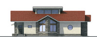 Проект кирпичного дома 70-93 фасад