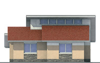 Проект кирпичного дома 70-94 фасад