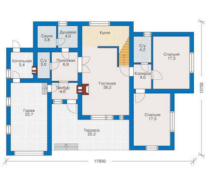 Проект кирпичного дома 70-94 план