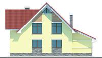 Проект кирпичного дома 70-96 фасад