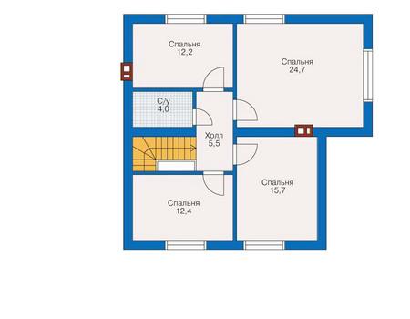 Проект кирпичного дома 70-96 план