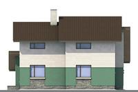 Проект кирпичного дома 70-97 фасад
