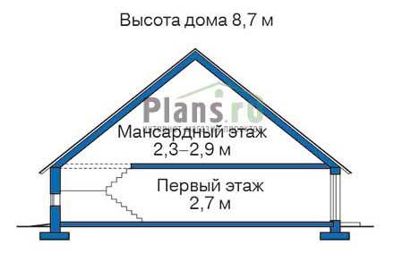 Проект кирпичного дома 70-97 план