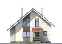 Проект кирпичного дома 70-98 фасад