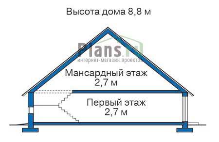 Проект кирпичного дома 70-98 план