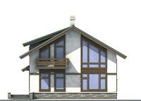 Проект кирпичного дома 70-99 фасад