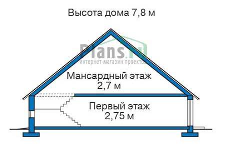 Проект кирпичного дома 70-99 план
