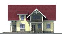 Проект кирпичного дома 71-00 фасад