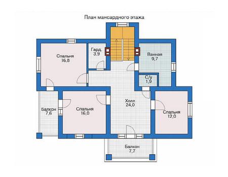 Проект кирпичного дома 71-00 план